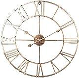 Relojes de Pared Grandes, Reloj de jardín Interior al Aire Libre, Sala de Estar de Hierro, Reloj silencioso Que no Hace tictac para jardín/Patio/Patio