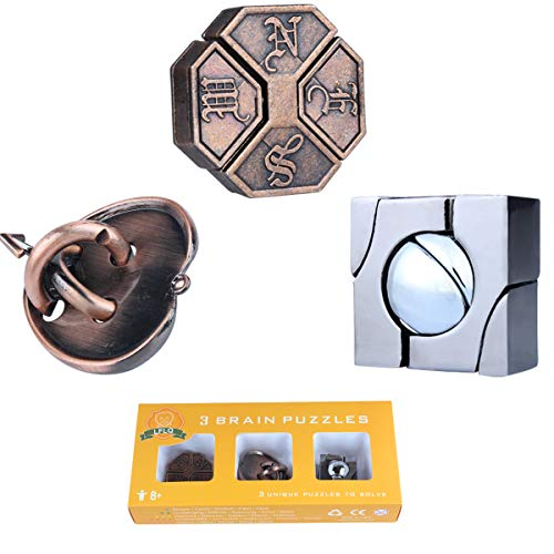 Brain Teaser Metal Puzzle 3D Unlock Interlocking Puzzle Adults Educational Toy, Puzzle Switch Games