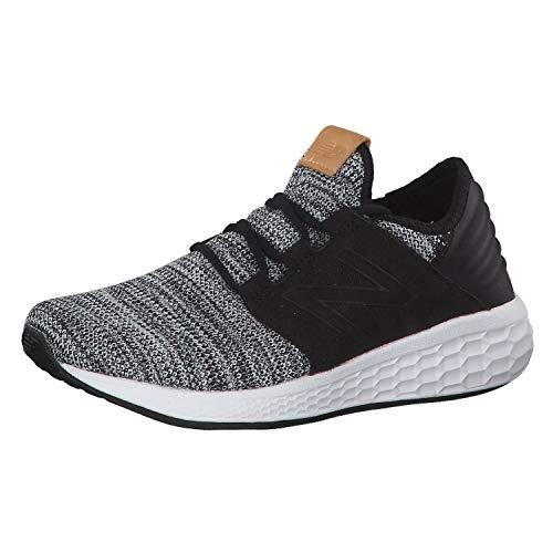 New Balance Men's Cruz V2 Fresh Foam Running Shoe, White/Black, 10 D US