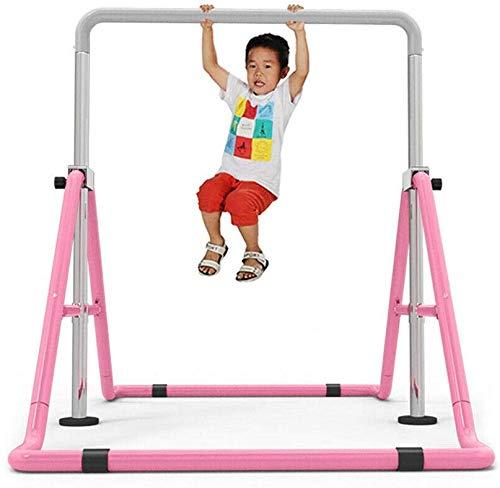 SHIOUCY Turnreck Gymnastik Kinder Garten Reck Reckanlage Turnstangen Horizontale Training Bar Trainingsgeräte Outdoor Fitness Höhenverstellbar (Pink)