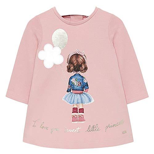 Mayoral - Baby Mädchen Kleid Langarm Winterkleid mit Reißverschluss und Rüschendetails, rosa Mädchen - 2.920, Größe 86