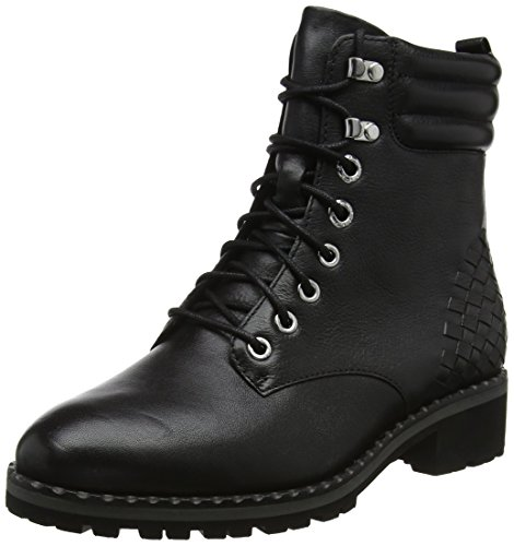 CAPRICE Damen 9-9-25208-21 022 Combat Boots, Schwarz (Black Nappa 22), 42 EU