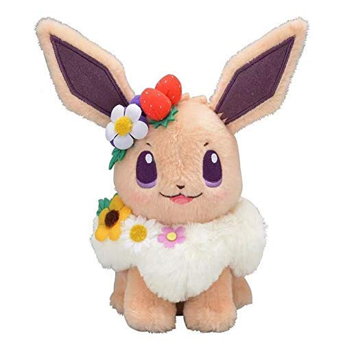 LYH2019 Anime Game Pikachu Eevee Easter Eevee Évoli Evoli Eievui's Easter Plush Doll Stuffed Toy Plush Toy 18Cm