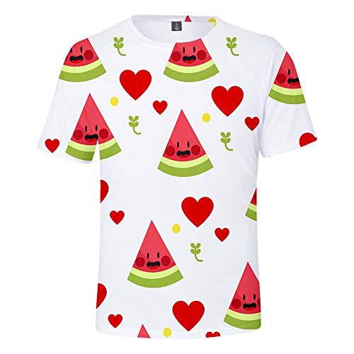 Adultos Casuales con Motivos de Fruta y Camisetas de Manga Corta para niños F Model 150 CM
