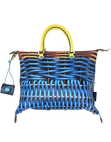 GABS Handtasche mit abnehmbarem Schultergurt G3 Plus TG M - TRIP + RUGA 447 - KORB 37 x 3 x 30 cm - G00033T2X0783S0447