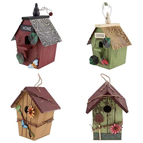 perfk 4er/Set Nisthöhle Vogelhaus Brutkasten Nistkasten Halbhöhle Nisthilfe Vogelnistkasten für Kleinvögel