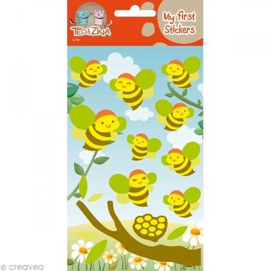 Téo et Zina Bees Sticker Board, Felt, Multi-Coloured, 18.5?x 9.5?x 0.2?cm