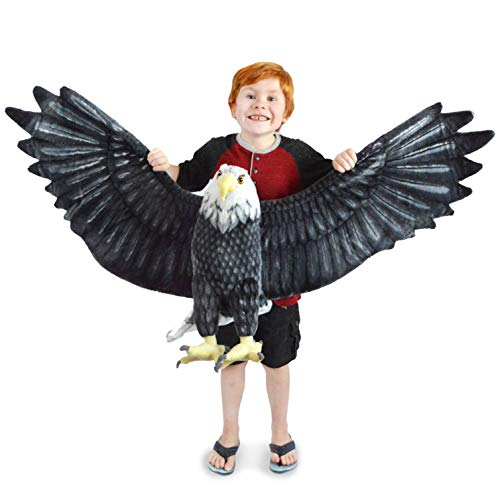 VIAHART Barry The Bald Eagle | 57 Inch Wingspan Giant Stuffed Animal Plush Jumbo American Eagle | Shipping from Texas | by Tiger Tale Toys