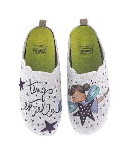 Zapatillas de casa para Mujer Fabricadas en España Vivant 192573 Gris - Color - Gris, Talla - 38