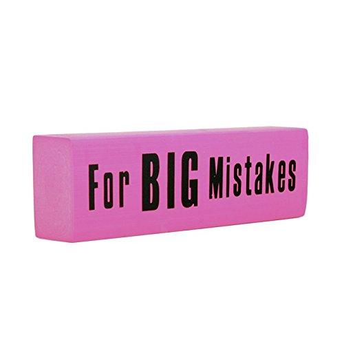 Giant Jumbo Pink Eraser For Big Mistakes