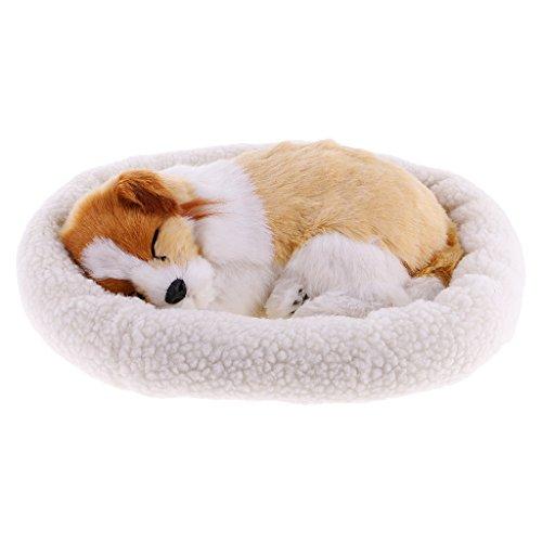 FLAMEER Süße Plüschtier Katze / Hund schlafende Tiere Kuscheltier Plüschfigur Spielzeug - Schäferhund