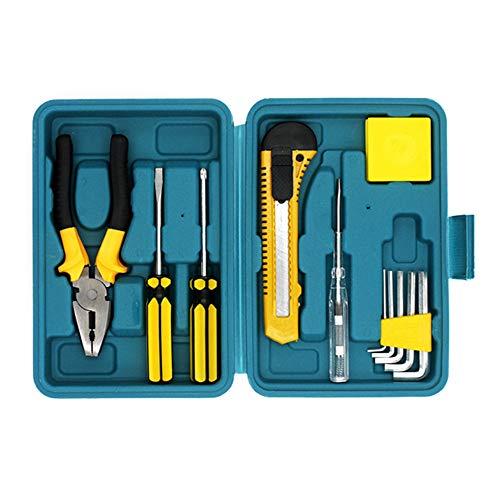 Geschenkhardware gereedschapsset van 12 huishoudencombinatie Toolbox Elektricien Toolbox Ordinary met plastic opbergdoos