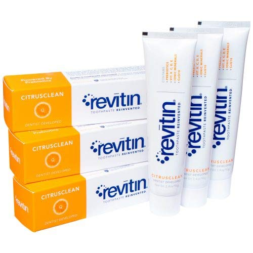 Revitin Natural Toothpaste and Prebiotic Oral Therapy - Pack of 3