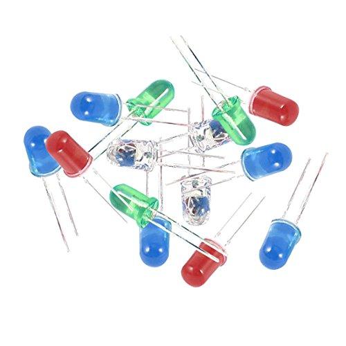 Diodos LED - TOOGOO(R) 100 piezas diodos de emisores de luz LED DC 2,5V-3V de 5mm azul rojo verde blanco
