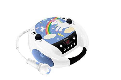 BigBen CD52 CD-Player mit Radio und Mikrofon, Einhorn-Edition