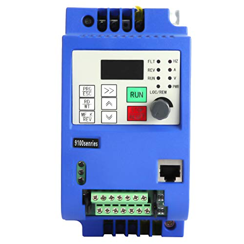 AC220V 0.75KW VFD Variador de frecuencia, monofásico 220V a trifásico 380V inversor, PWM Control Vector convertidor de frecuencia Convertidor de frecuencia