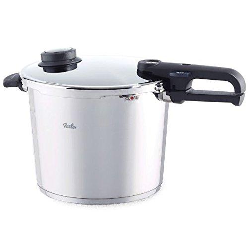 Fissler vitavit premium / Olla a presión (10 litros, Ø 26 cm) de acero inoxidable, 2 niveles de cocción, apta para cocinas de inducción, gas, vitrocerámica y eléctricas
