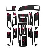 RelaxToday Calcomanías para automóviles Vinilos y calcomanías Autoadhesivas de Vinilo de Fibra de Carbono Accesorios para el diseño de automóviles, para Honda Accord 2014-2016