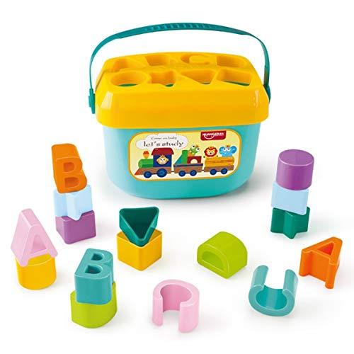 ACEHE Cubo de Bloques, Caja de Inteligencia Creativa Clasificador de Formas geométricas Bloques de construcción cognitivos y a Juego para bebés Juguetes educativos tempranos para niños