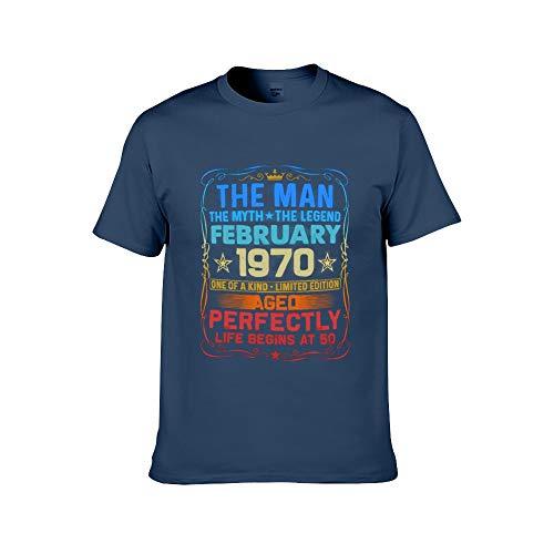 Männer Mode gedruckt - 50. Geburtstagsgeschenk T-Shirt gemacht rotes Hemd Vintage 1970 T-Shirt L