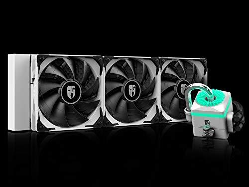 DeepCool Captain 360X Bianco RGB Sistema di Raffreddamento Anti-Leak Radiatore da 360mm Dissipatore a Liquido RGB 12V 4-Pin Compatibile Intel 115X/2066 e AMD AM4 TR4