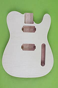 Yinfente Electric Guitar Body Replacement Mahogany Maple wood Guitar Body For Tele Unfinished 25.5 Inch