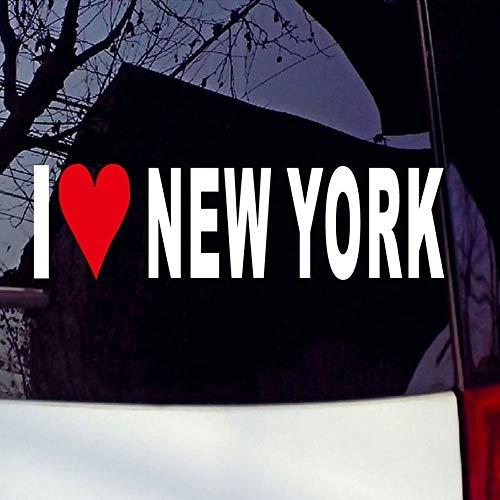 I Love New York Window Vinyl Stickers Decals White Sticker Vinyl Decals window decal 20cm
