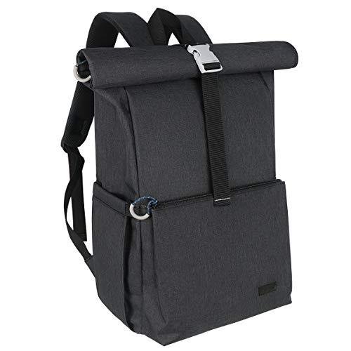 Hap Tim - Borsa fasciatoio per neonati, arrotolabile e casual, grande capacità, da viaggio, colore: nero
