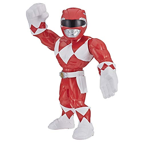 Playskool B07V41K7KL Heroes Mega Mighties Power Rangers 25 cm große Roter Ranger Figur, Spielzeuge zum Sammeln, Kinder ab 3 Jahren