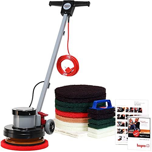 bopro Z12C Einscheiben Reinigungs- und Poliermaschine inklusive Zubehör für Reinigung, Pflege und Politur von Holz, Stein und anderen Hartböden.