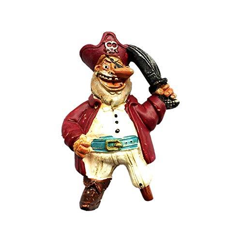 Imán para nevera con diseño de pirata vikinga de Noruega Nórdica Dinamarca Suecia Creativo Viking Pirata 3D de viaje para decoración del hogar y la cocina, colección de imanes para nevera