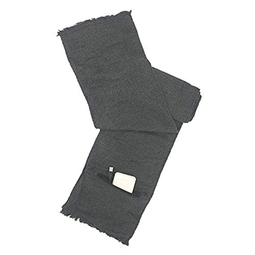 ZXLIFE@@@ USB Elektrische verwarmde sjaal voor mannen/vrouwen, kasjmier verwarmde warme sjaal, zacht en comfortabel, comfortabel te bedienen, inclusief speciale voeding