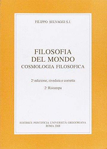 Filosofia del mondo. Cosmologia filosofica