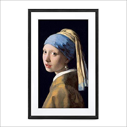 Meural Canvas II MC327WL Smart Art HD Digital Canvas, 48 x 74 cm (wit frame, 27 inch, schilderijen en foto's gereproduceerd in levensechte details, Wi-Fi met app, door NETGEAR)