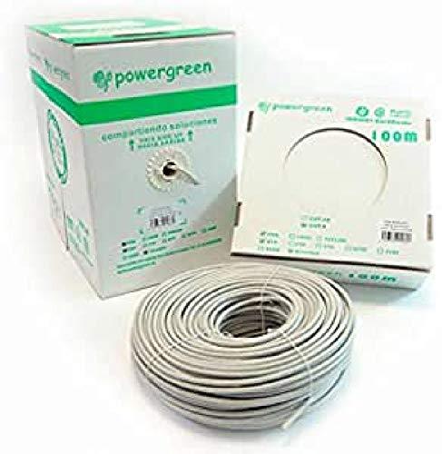 Powergreen CAB-06305-BU Bobina de Cable Cat 6 Utp 305 Metros Rígido Caja