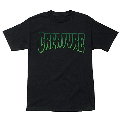 Creature Skateboard Shirt Logo Outline Black