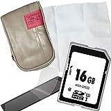 1A PHOTO PORST Accesorios Set Caja de la cámara + Pantalla Película Protectora + Tarjeta SD de 16GB + Paño de Limpieza de Microfibra para cámaras Canon Ixus