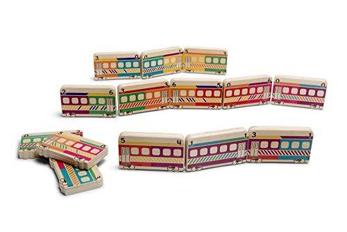 BS Toys Trains Trenes Domino, Multicolor (Buitenspeel BV GA373)