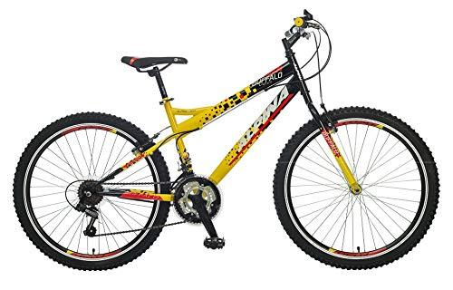 breluxx® 26 Zoll Mountainbike Hardtail Buffalo Sport gelb, 18 Gang Shimano - Modell 2019