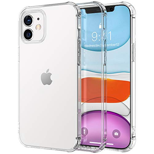 Krichit Ongoing Series Clear iPhone 12 Mini Case [Anti-Yellowing] [Military Grade] [Anti-Shock] Premium TPU PC Protective Case