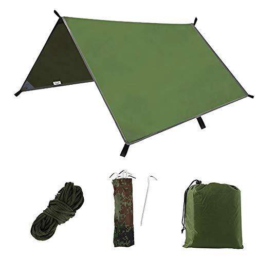 Tienda de campaña para acampada, 3 m, gran cobertizo de acampada, resistente al viento, impermeable a la nieve, ligera, resistente, con bolsa de almacenamiento portátil para viajes al aire libre