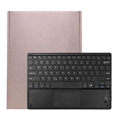 GHC PAD Fundas y fundas para iPad Pro de 11 pulgadas 2020, teclado inalámbrico Bluetooth, funda inteligente de piel para iPad 2020 2ª generación de 11 pulgadas (color: oro rosa negro)