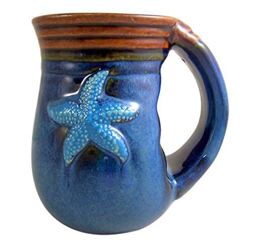 Cape Shore Handwarmer Coffee Cup with Beach Batik Starfish Design, 18 Ounce