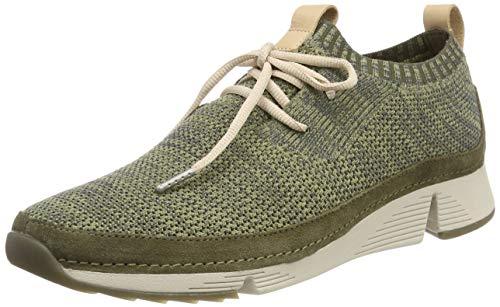 Clarks Damen Tri Native. Sneaker, Grün (Khaki Combi), 41 EU
