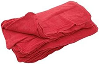 Sara Glove 14x14 Inch Shop Towel/Cleaning Mechanic Rags - 100% Cotton Commercial Towels, Perfect for Automotive Garage, Kitchen, Home (RED) (100 Count)