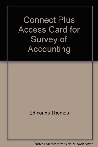 Connect Plus Access Card for Survey of Accounting