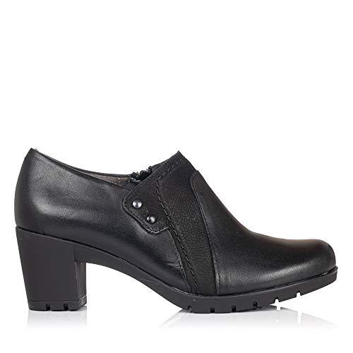PITILLOS 3961 Zapato Abotinado Piel Tacon Mujer Negro 38