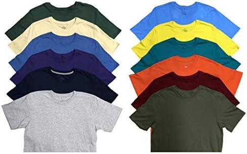 SOCKS NBULK Mens Cotton Crew Neck Short Sleeve T Shirts Mix Colors Bulk Pack product image