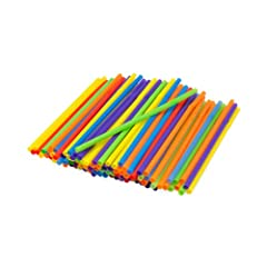 Included in each package are 125 straws of various colors Each straw is made of disposable, recyclable, BPA-free plastic Great for juices, soft drinks, water, and more Straws measure 8-1/4 inch long, and flexed measure 8-1/2 inch long Colors included...