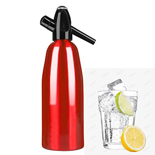 HXSD Agua de Aluminio Siphon Botella Super One Liter, Dispensador de Agua carbonatada vaporizada por Agua de Soda